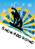 De vectorillustratie van Snowboarding Stock Foto's