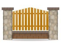 De vectorillustratie van de steenomheining royalty-vrije illustratie
