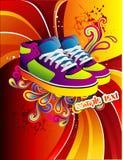 De vectorillustratie van tennisschoenen Royalty-vrije Stock Afbeelding