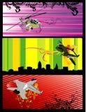 De vectorillustratie van vliegtuigen Stock Afbeeldingen