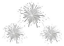 De vectorillustratie van vuurwerk Stock Foto