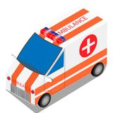 De vectorillustratie van de ziekenwagenauto royalty-vrije illustratie