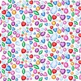 De vectorillustratie voor regenboog kleurt gemmen en kristallen voor de het heilige behang of achtergrond van het meetkundeconcep Royalty-vrije Stock Foto's
