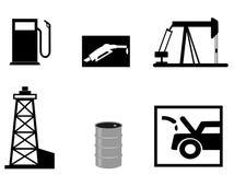De vectorillustraties van de benzine Royalty-vrije Stock Foto's