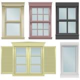 De vectorillustraties van het venster Stock Foto