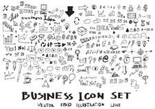 De vectorinkt eps10 van de bedrijfskrabbelsschets Stock Foto's