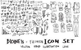 De vectorinkt eps10 van de bedrijfskrabbelsschets Royalty-vrije Stock Afbeelding