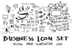 De vectorinkt eps10 van de bedrijfskrabbelsschets Stock Foto
