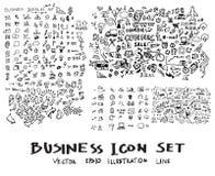 De vectorinkt eps10 van de bedrijfskrabbelsschets Stock Afbeeldingen