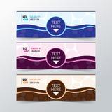 De vectorinzameling van van de achtergrond ontwerpbanner boomkleuren Stock Fotografie