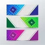 De vectorinzameling van van de achtergrond ontwerpbanner boomkleuren Royalty-vrije Stock Fotografie