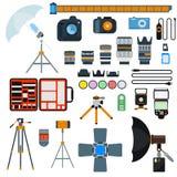 De vectorinzameling van fotopictogrammen Stock Afbeelding