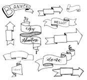 De Vectorinzameling van lintbanners reeks royalty-vrije illustratie