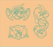 De vectorjugendstil van de illustratie decoratieve Bloem Stock Fotografie
