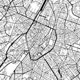 De Vectorkaart van Brussel België royalty-vrije illustratie