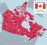 De vectorkaart van Canada royalty-vrije illustratie