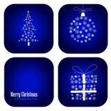 De vectorkaart van de Kerstmisdecoratie Royalty-vrije Stock Afbeeldingen