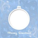 De vectorkaart van de Kerstmisuitnodiging Stock Afbeeldingen