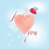 De vectorkaart van de valentijnskaartdag Stock Fotografie
