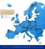 De vectorkaart van Europa Royalty-vrije Stock Foto