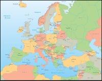 De vectorkaart van Europa Stock Afbeelding