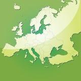 De vectorkaart van Europa Stock Foto