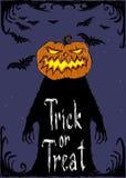 De vectorkaart van Halloween Royalty-vrije Stock Afbeeldingen