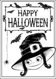 De vectorkaart van Halloween Stock Foto