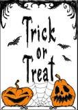 De vectorkaart van Halloween Royalty-vrije Stock Foto's
