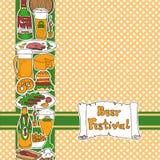 De vectorkaart van het bierfestival Stock Afbeeldingen
