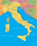 De vectorkaart van Italië Stock Afbeelding