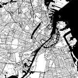 De Vectorkaart van Kopenhagen Denemarken Royalty-vrije Stock Foto