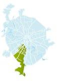 De vectorkaart van Moskou Stock Afbeeldingen