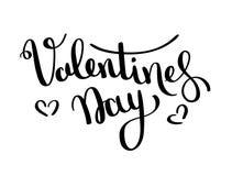 De vectorkaart van de valentijnskaartendag Het gelukkige Valentijnskaartendag van letters voorzien op een witte achtergrond Vecto vector illustratie