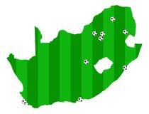 De vectorkaart van Zuid-Afrika van de Kop van de Wereld van FIFA 2010 Royalty-vrije Stock Afbeelding