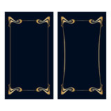 De vectorkaarten van de Jugendstiluitnodiging Royalty-vrije Stock Afbeeldingen