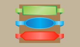 De vectorkaartjes van de kleurenverkoop Stock Afbeeldingen