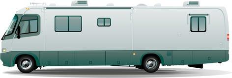 De vectorkampeerauto van rv Royalty-vrije Stock Afbeeldingen