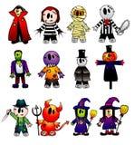 De vectorkarakters van Halloween Stock Afbeeldingen