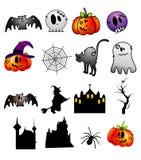 De vectorkarakters van Halloween stock illustratie