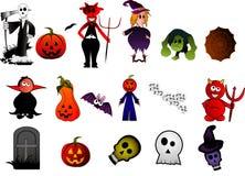 De vectorkarakters van Halloween vector illustratie