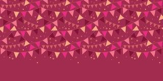 De vectorkerstmisdecoratie markeert horizontaal Royalty-vrije Stock Afbeelding