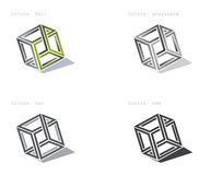 De vectorkubus verandert voor logotype royalty-vrije stock foto's