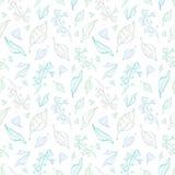 De vectorkunst van de pastelkleurlijn verlaat naadloos patroon vector illustratie