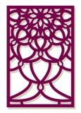 De vectorlaser sneed paneel Abstract Patroonmalplaatje voor decoratief Stock Foto