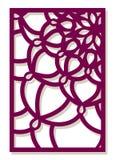 De vectorlaser sneed paneel Abstract Patroonmalplaatje voor decoratief Stock Afbeelding