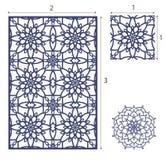 De vectorlaser sneed paneel, het naadloze patroon voor decoratieve ruit Royalty-vrije Stock Foto