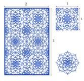 De vectorlaser sneed paneel, het naadloze patroon voor decoratieve ruit Royalty-vrije Stock Fotografie