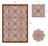 De vectorlaser sneed paneel, het naadloze patroon voor decoratieve ruit Stock Foto's