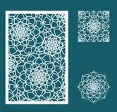 De vectorlaser sneed paneel, het naadloze patroon voor decoratieve ruit Royalty-vrije Stock Afbeeldingen